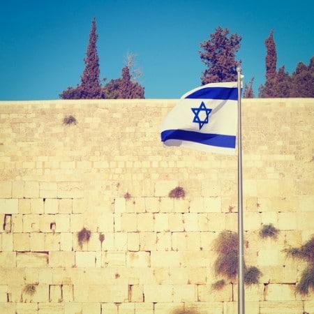 דגל ישראל והכותל המערבי