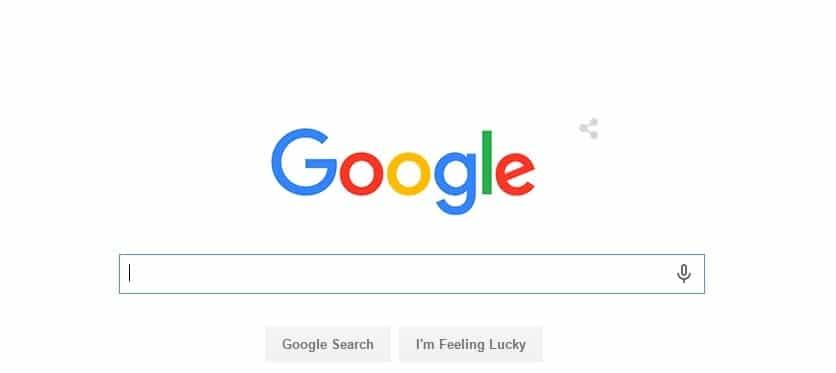 צילום מסך עמוד גוגל
